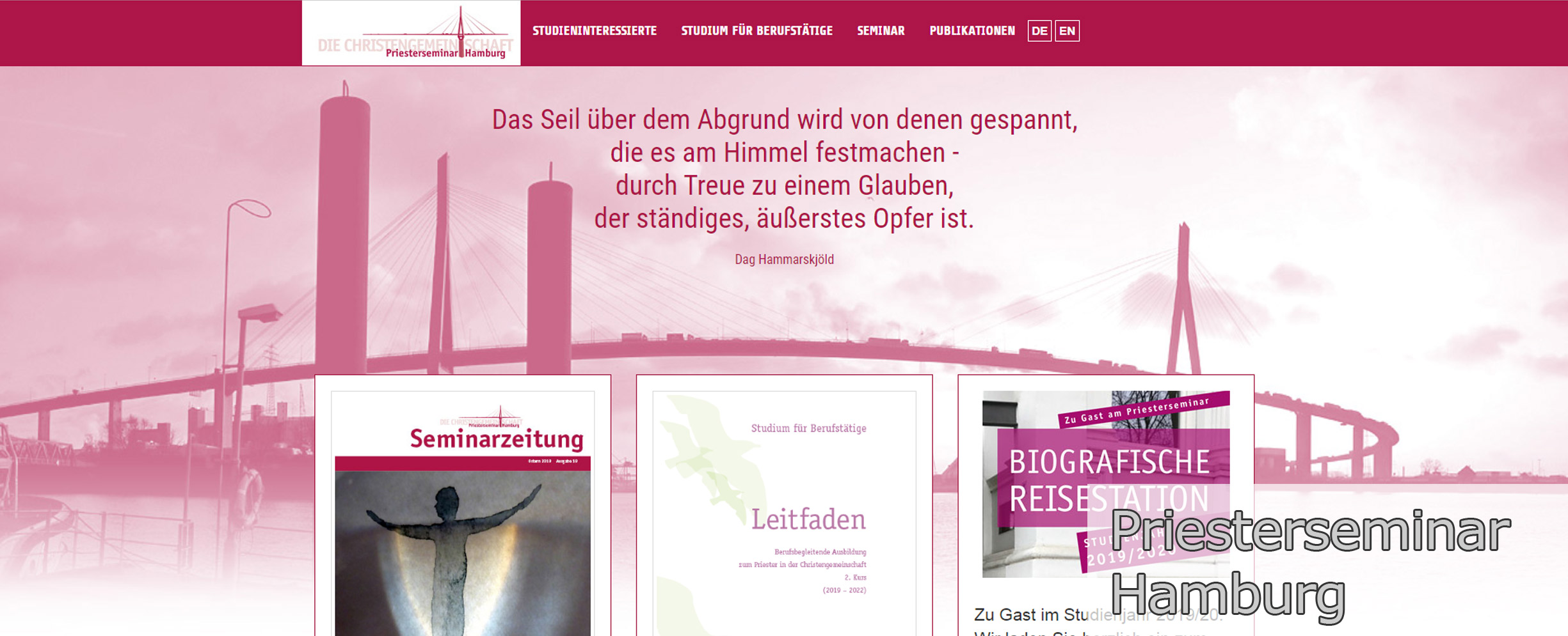 Typo3 Webseite Priesterseminar Hamburg